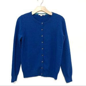 Boden Cashmere Cardigan in Royal Blue
